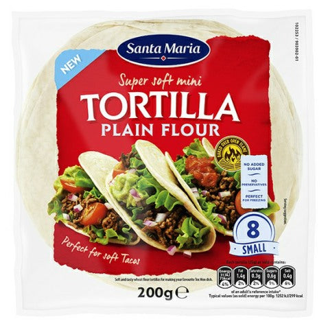 Mini Tortilla Plain Flour - 200g