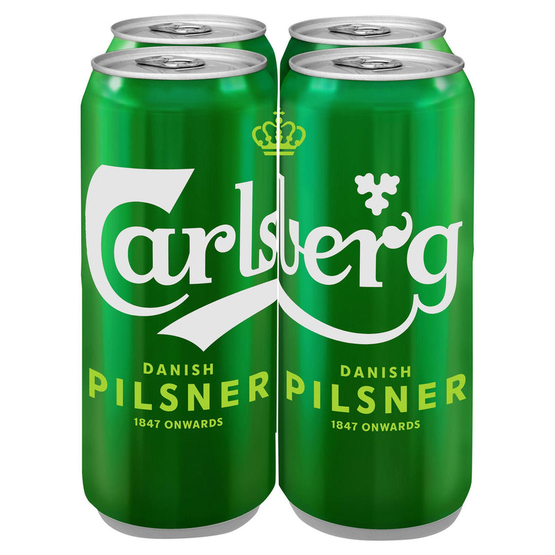 Carlsberg Danish Pilsner 500ml Cans x 4