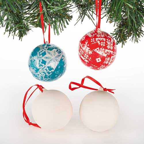 Ceramic Baubles (4 Pack)
