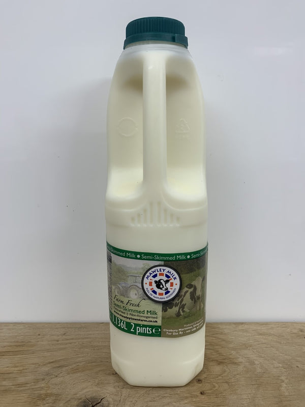 Mawley Milk Semi Skimmed 2pt