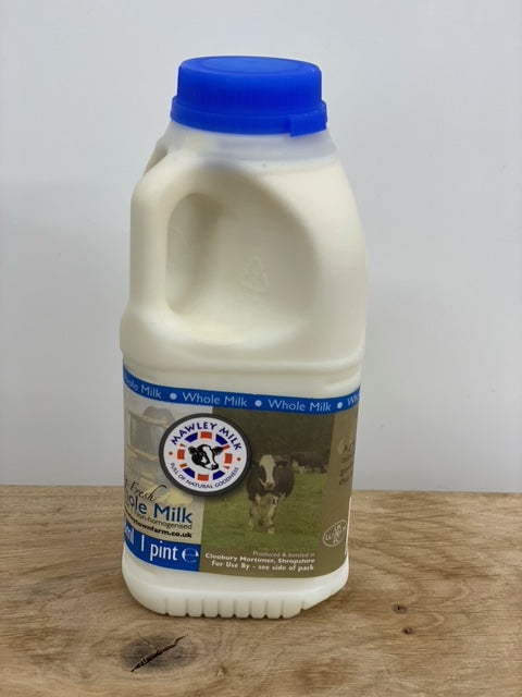 Mawley Milk Whole Pasteurised 1pt