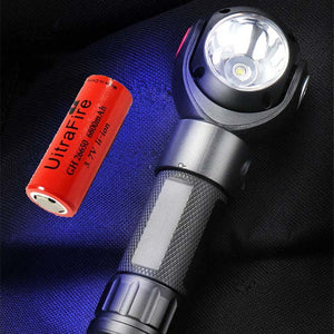 360 Degree Rotating USB Charging LED Glare Flashlight