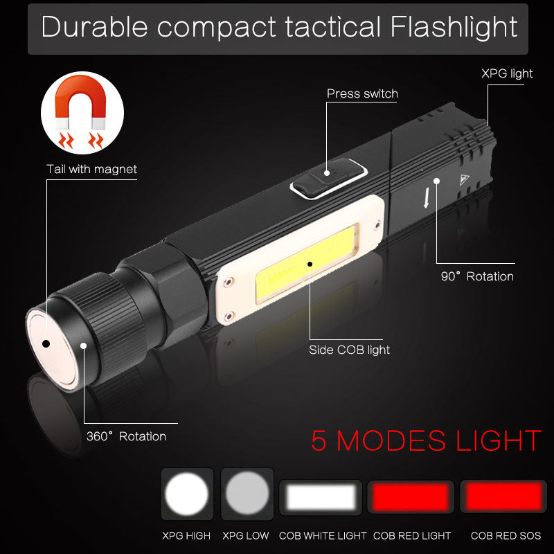 [BUY 2 Get Extra 10% OFF + Free Shipping]Folding Flashlight