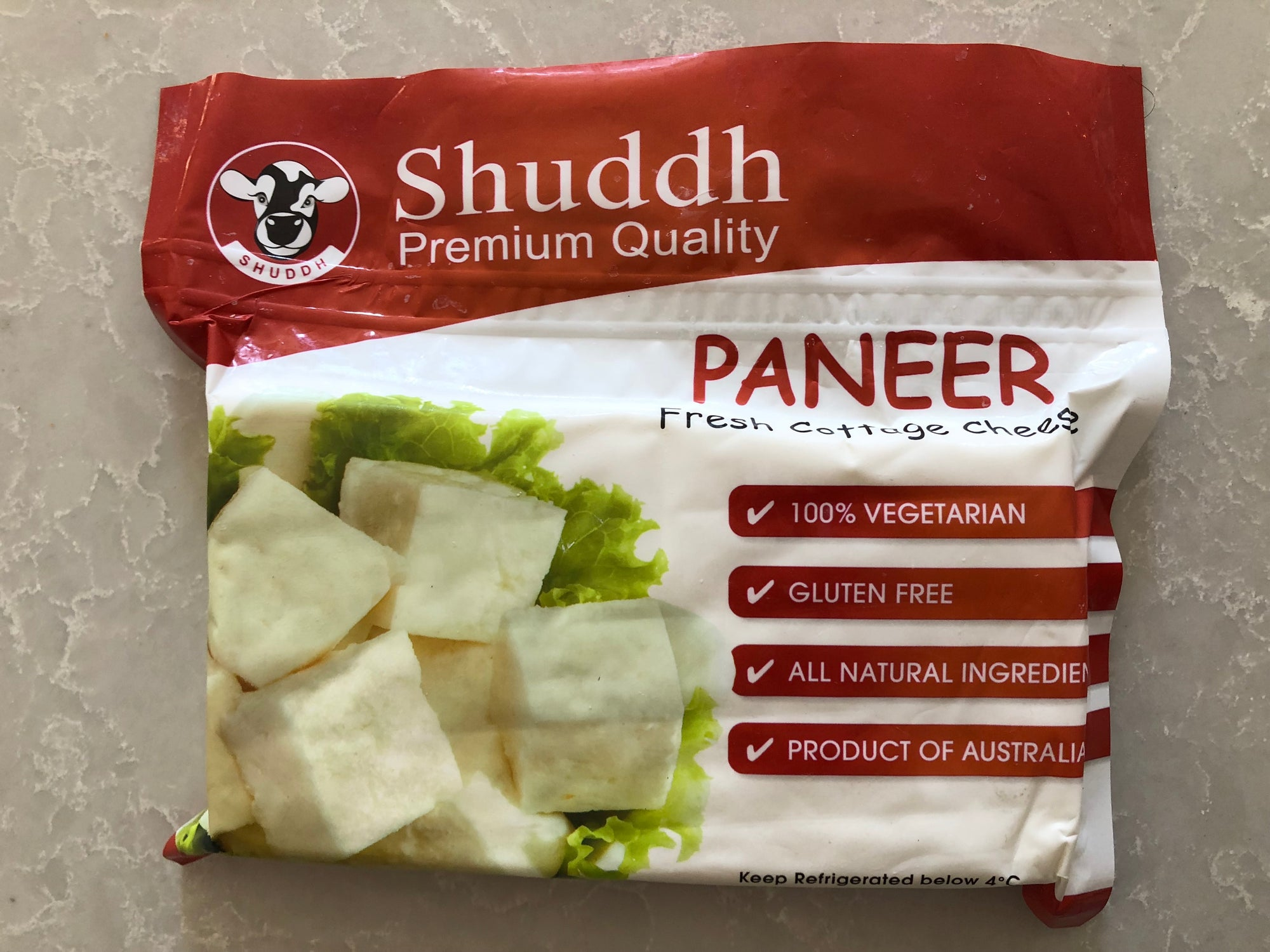 Paneer (Indian Cottage Cheese) - Shuddh brand