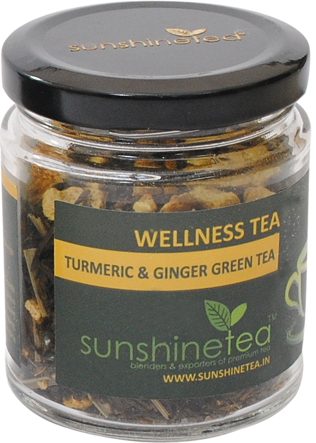 TURMERIC & GINGER GREEN TEA