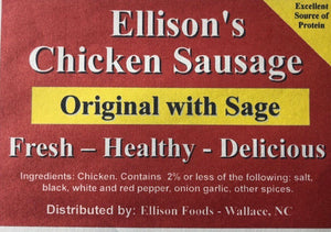 10lb Original Chicken Sausage ( Durham 9am-1230pm