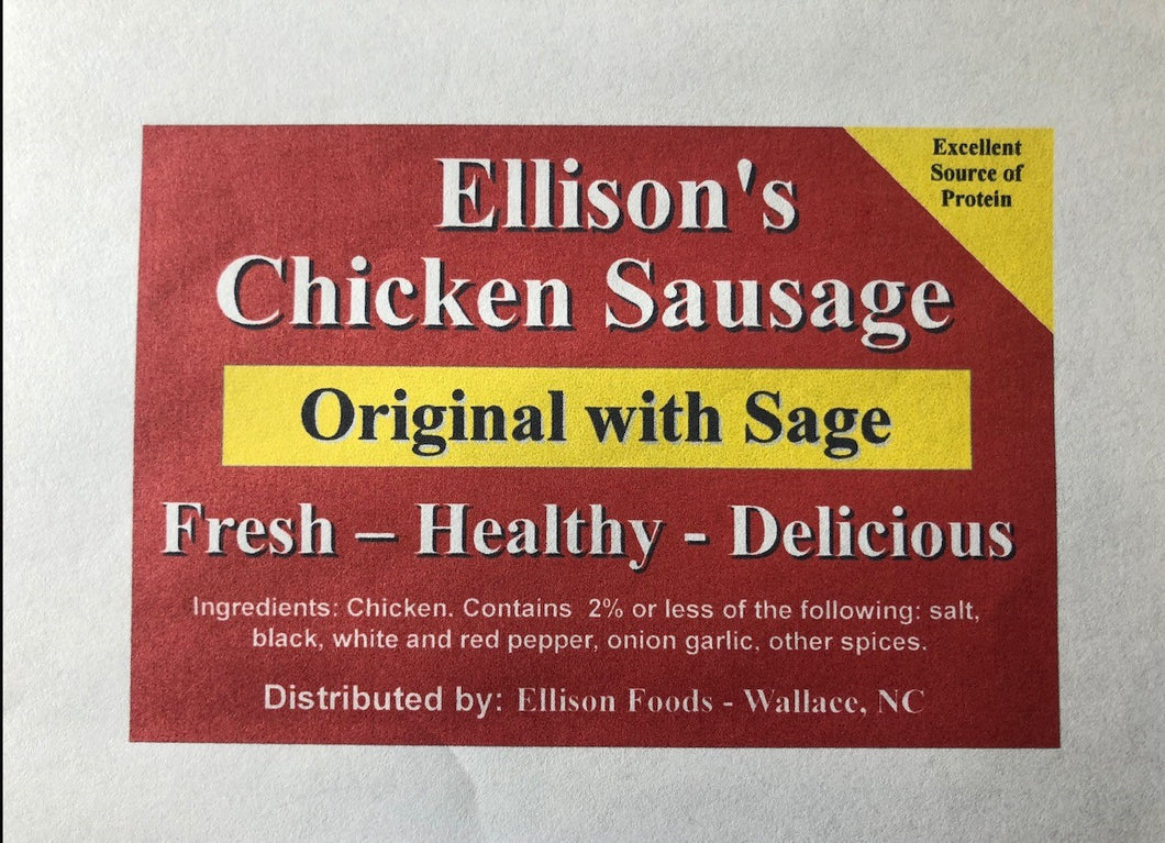 10 lb Fresh Original Chicken Sausage ( Whiteville 7/1/21 )