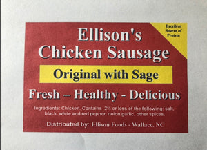 10 lb Fresh Original Chicken Sausage ( Hickory 9am-1230pm )