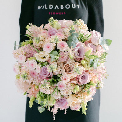 hand-tied rose bouquets