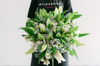hand tied lilies