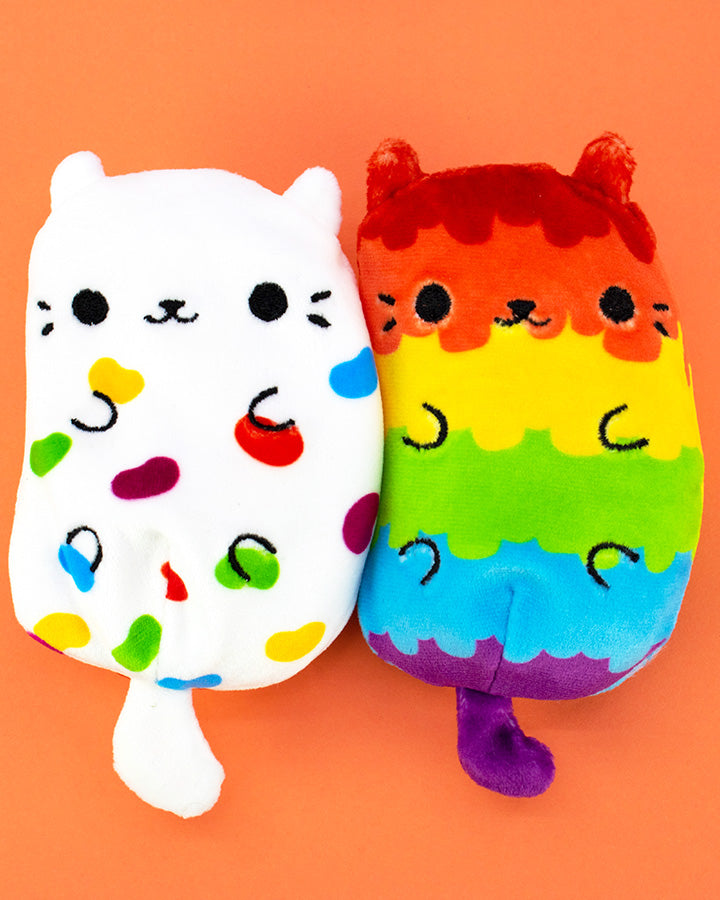 Jelly Bean and Piñata Pop cats on orange