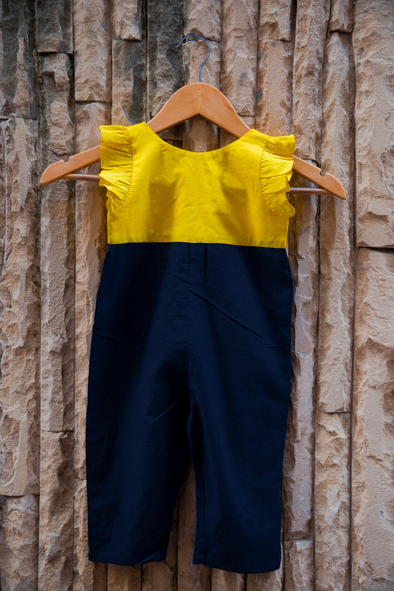 Twill Color Block Dungarees