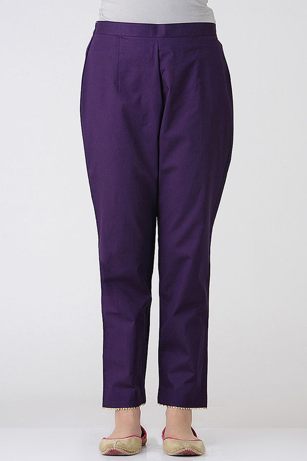 Purple Cotton Pant