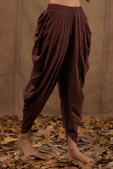 Coffee Cotton Dhoti Pants