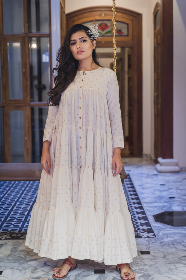 Utsav Sharara Cotton Dress