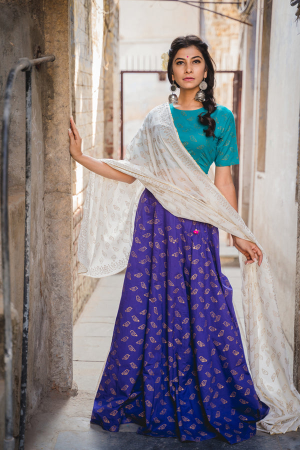 PP Chidiyaa Printed Lehenga with Dupatta (Set of 3)