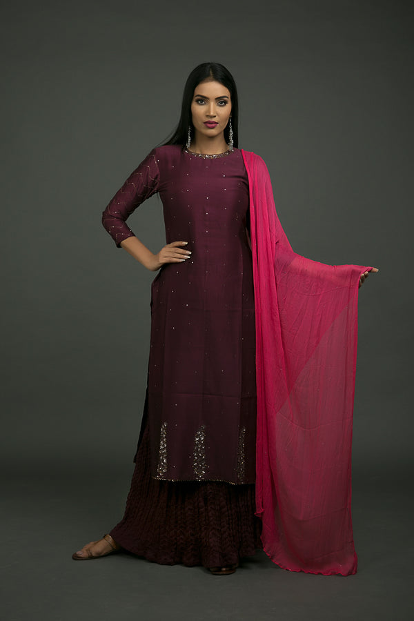 Jamuni Kamal Baag Embroidered Kurta
