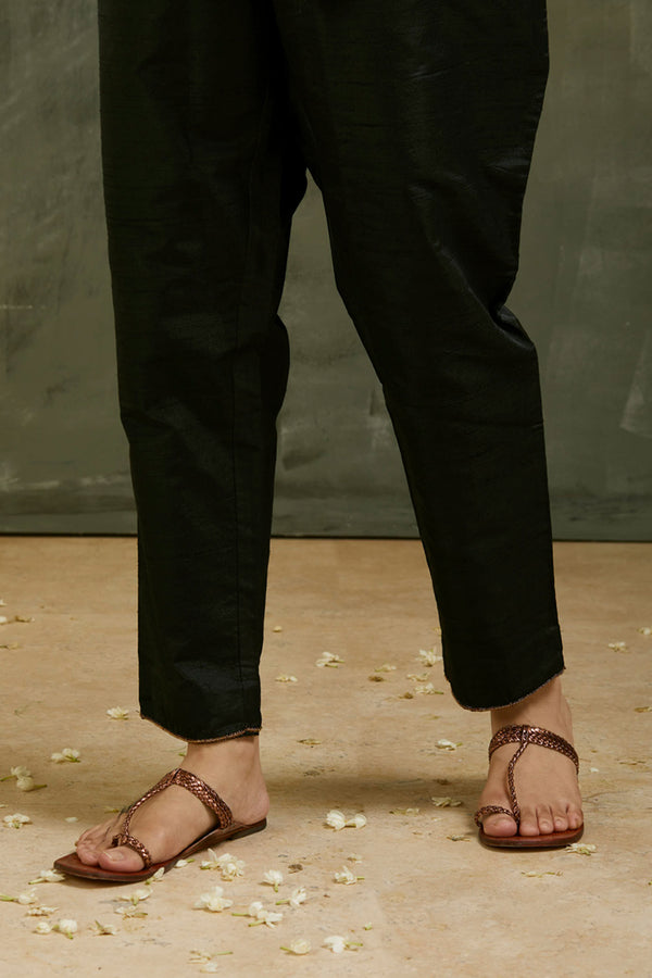 Charcoal Aari Embroidered Pant