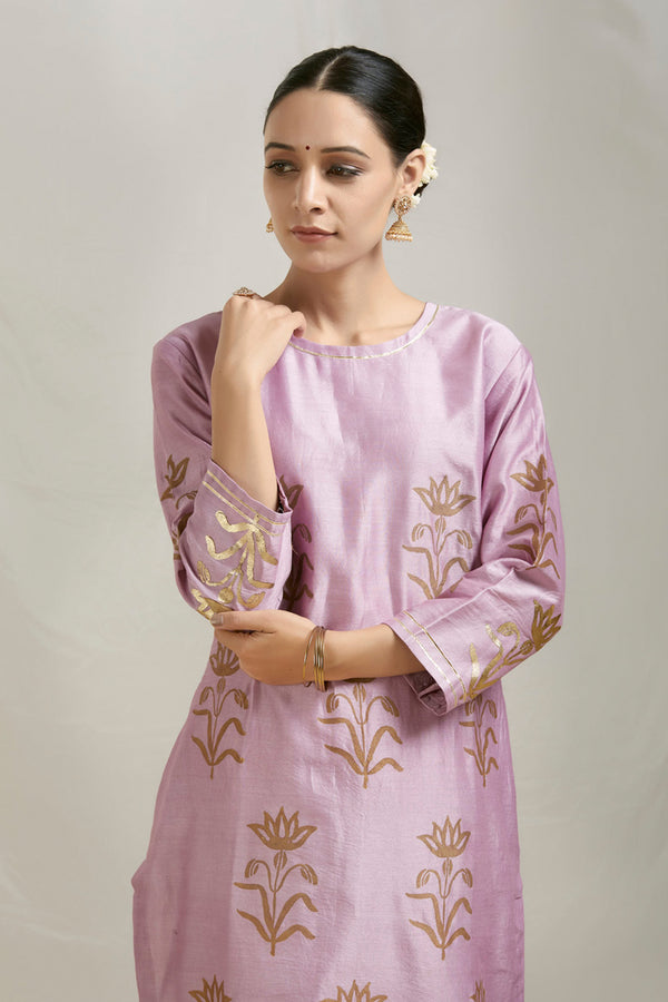 Hastika Phool Printed Chanderi Kurta