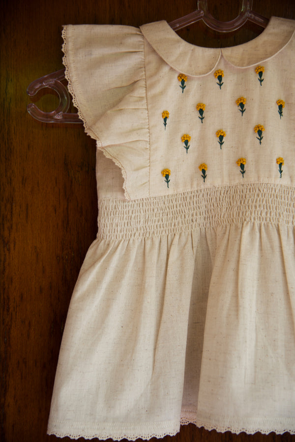 Romantic Embroidered Ruffled Dress