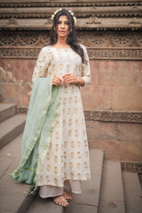 Mint Green Chanderi Dupatta