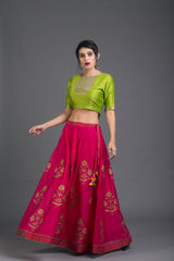 Rangeela Gulmohar Lehenga Set with Dupatta (Set of 3)