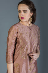 Regal Nude Pink Set with Dupatta (Set of 3)