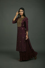 Jahanara Jaal Embroidered Kurta