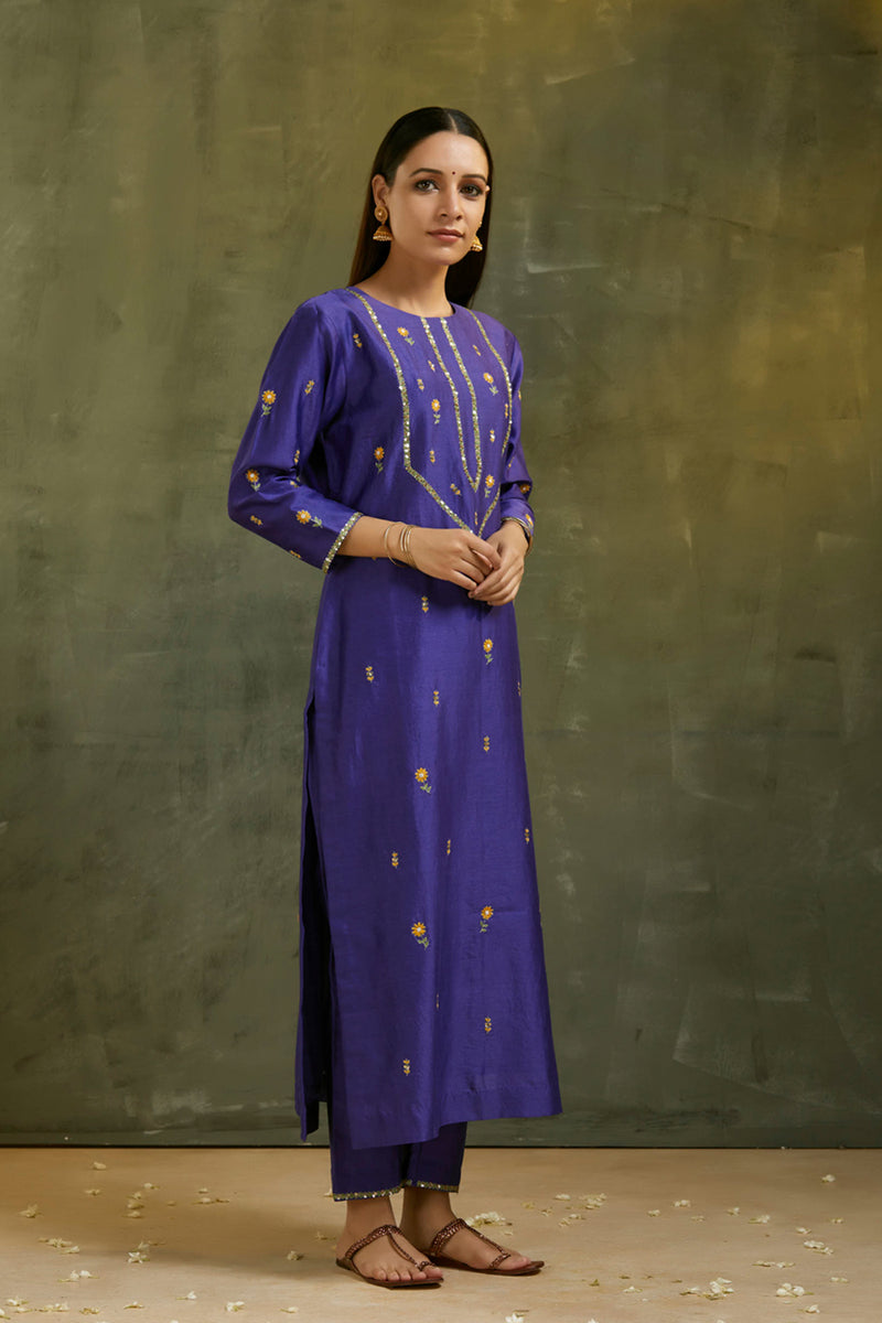 Maharani Hand Embroidered Kurta
