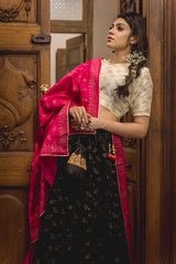 Rangeen Panchi Lehenga Set with Dupatta (Set of 3)