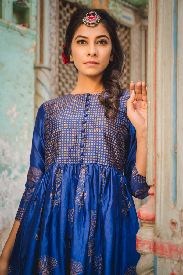 Haseen Chanderi Dress