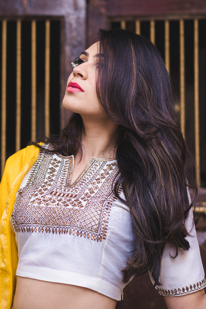 Nur Jahan Aari Embroidered Blouse