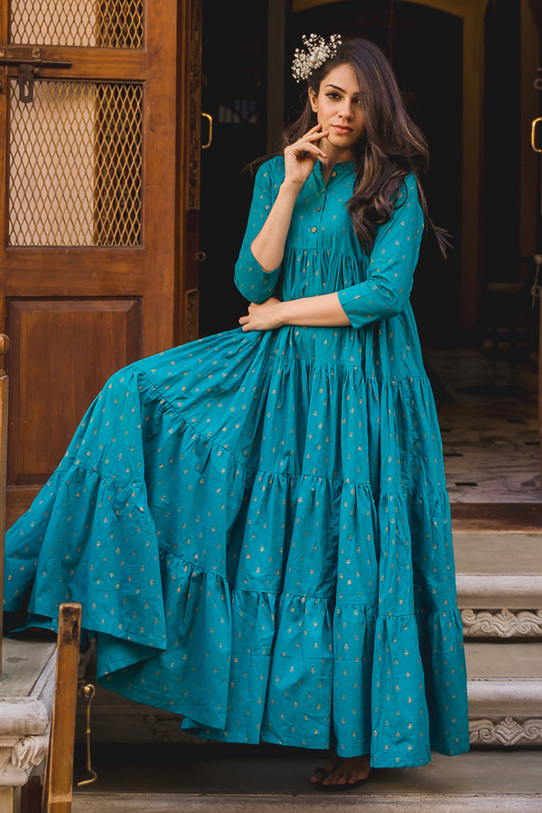 Kolam Sharara Cotton Dress