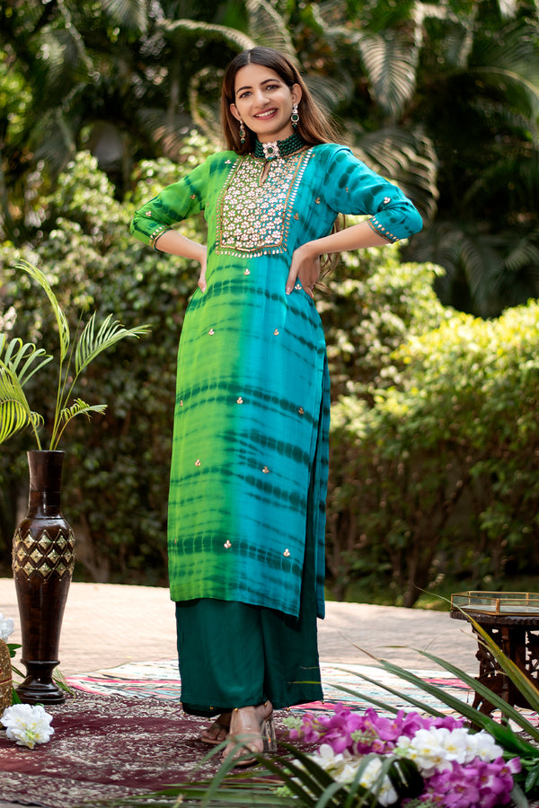 Mitra Gota Embroidered Georgette Kurta