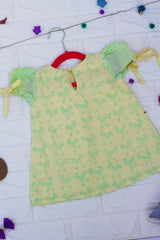 Yellow Green Chicken Printed Dress