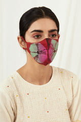 Mehroon Tye Dyed Masks (Set of 2)