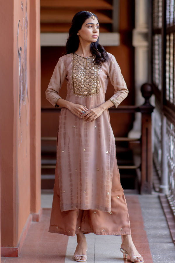 Naintara Gota Embroidered Kurta & Palazzo (Set of 2)
