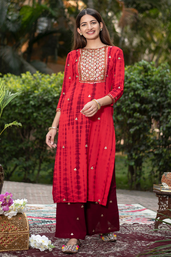 Uttara Gota Embroidered Georgette Kurta