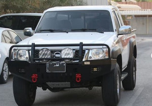 New aluminum bumper for the Nissan patrol VTC 4800 pickup.