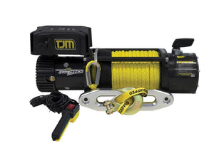 TJM Torq winch 9500LB inc Synthetic Rope  ونش سحب تي جي ام