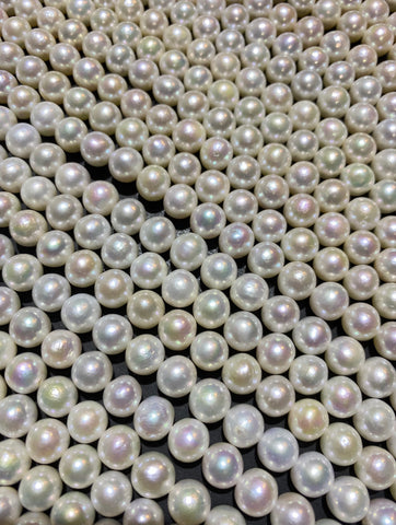 Chinese Akoya Round Pearls AA Grade 7.5-8.5mm White with winkle