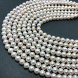 Chinese Akoya Round Pearls AA- Grade 7.5-8.5mm White with pits