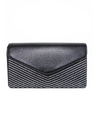 Crystal V Envelope Clutch