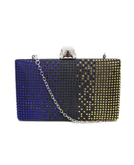 Jewel Gradient Stones Box Clutch