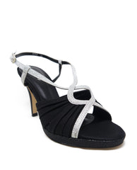 Criss-Cross Strap Satin Heels