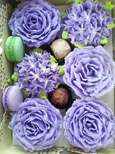 Load image into Gallery viewer, Purple Rose Cupcakes Gift Box MADE TO ORDER
