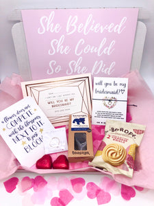 Will You Be My Bridesmaid Gift Box, Bridesmaid Hug in a box, Bridesmaid Care Package
