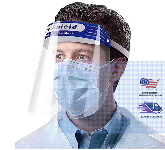 Plastic Face Shield Mask ( 10 Pack )