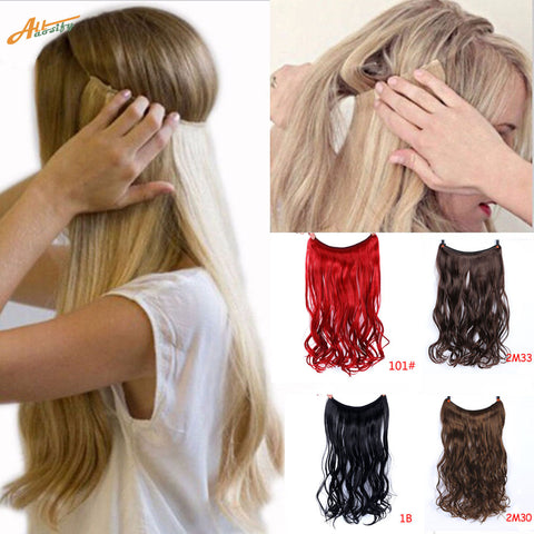 Invisible Halo Hair Extensions - rashamakeup