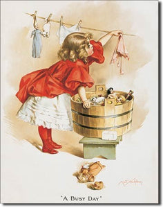 Tin Sign - Ivory Soap Girl Washing